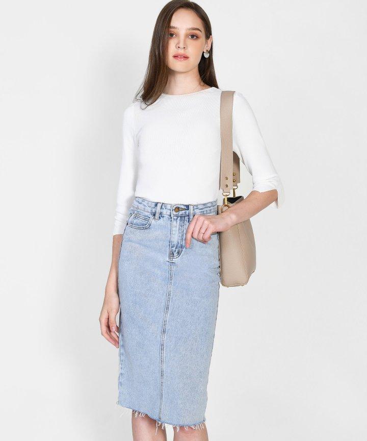 Calypso Knit Top - White