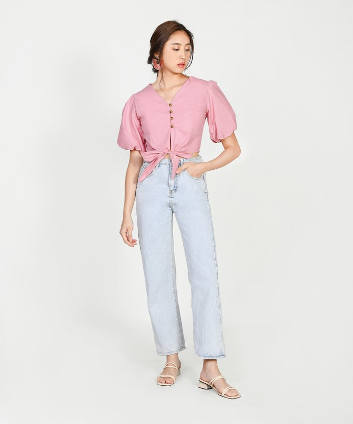 Marina Pouf-Sleeved Blouse - Pink