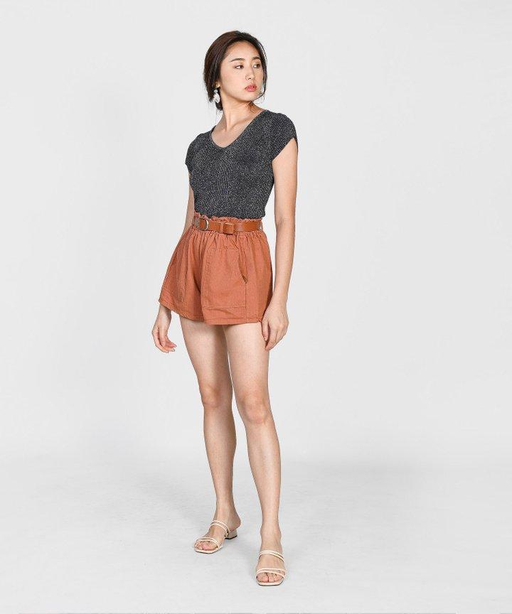 Shiloh Shimmer Knit Top - Black