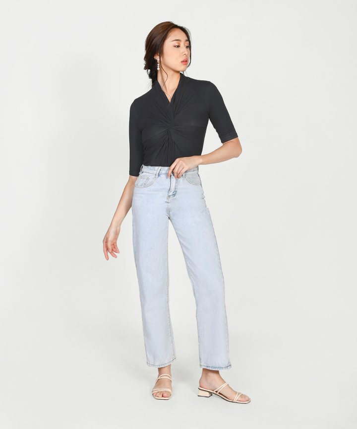 Amadea Knotted Top - Black