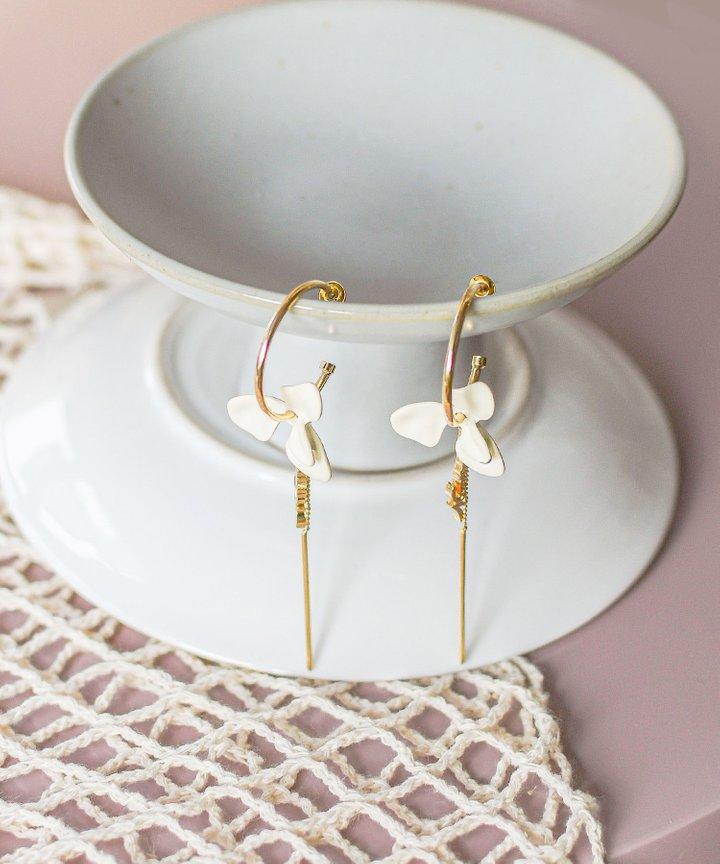 Maia Floral Hoop Earrings
