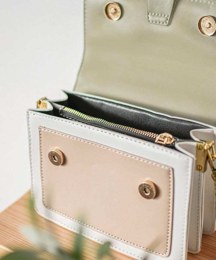 Kahlua Colourblock Bag - Sage