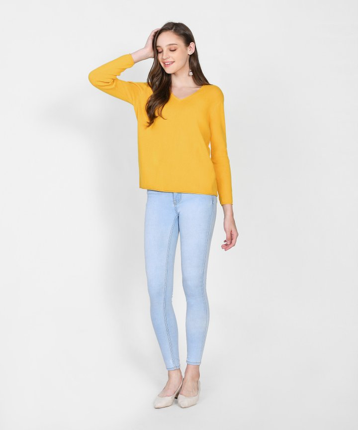 Caprice Knit Sweater - Marigold