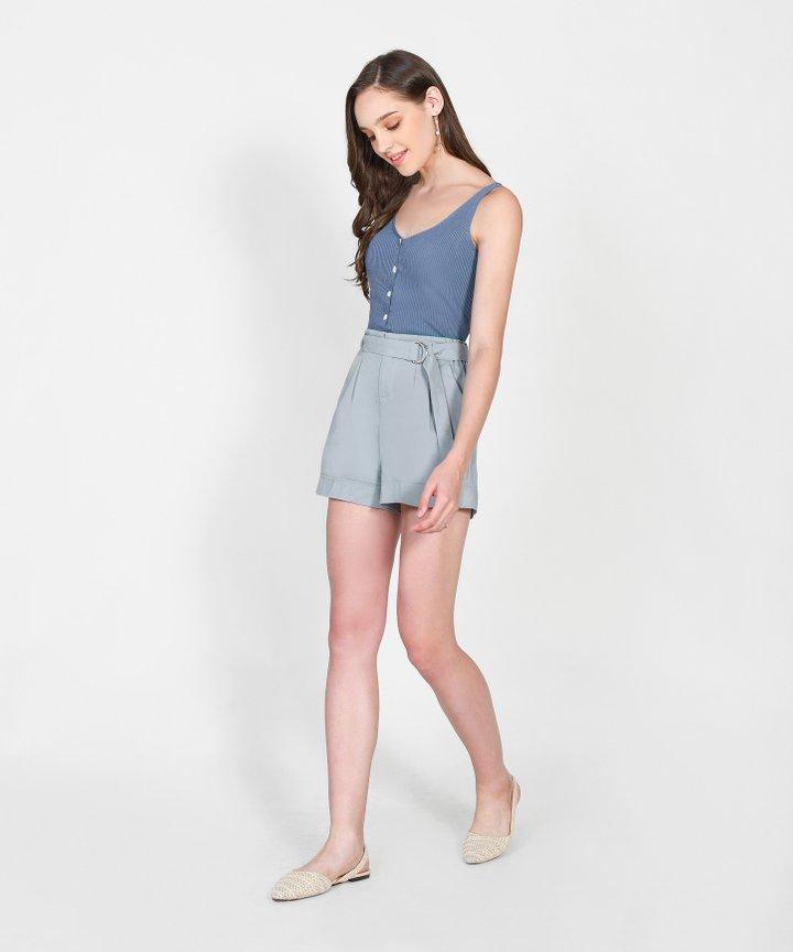Fallon Paperbag Shorts - Stone