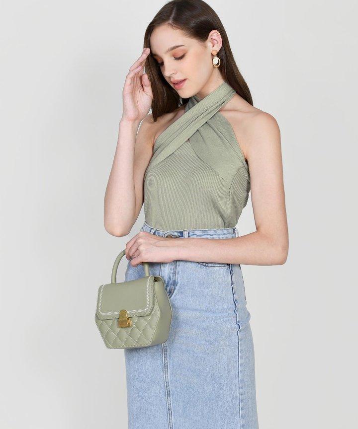 Halsey Knit Multiway Top - Sage