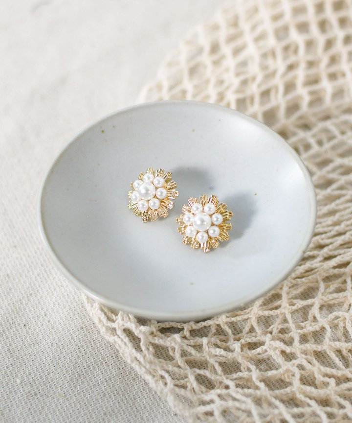 Basil Pearl Earrings