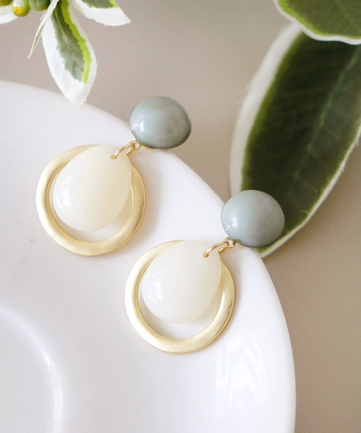 Charisma Drop Earrings - Sage