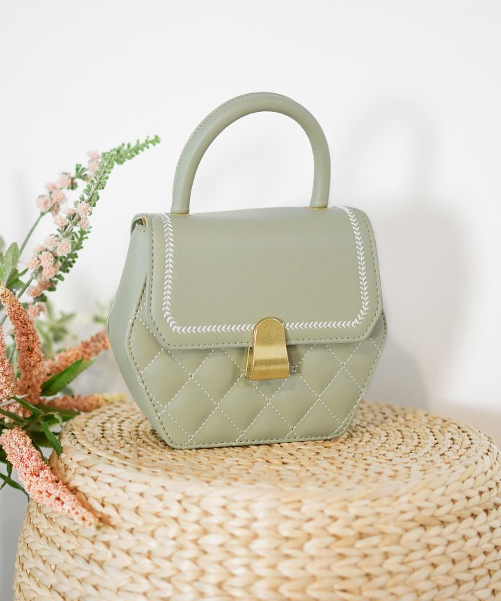 Morgan Hexagon Bag - Sage