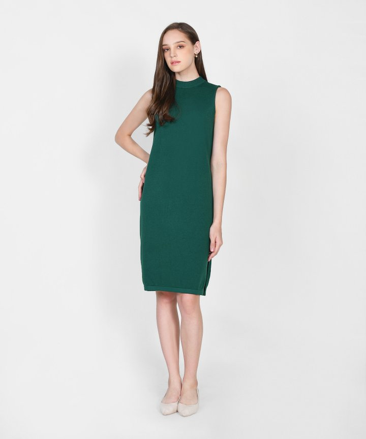 Elena Knit Midi - Hunter Green