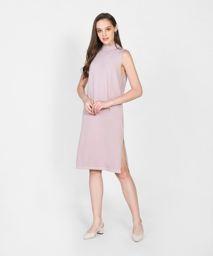 Elena Knit Midi Dress - Pale Lilac