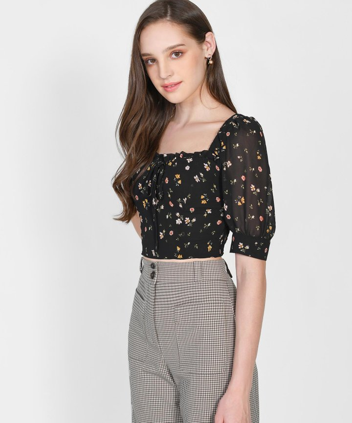 Hamptons Floral Cropped Top (Backorder)