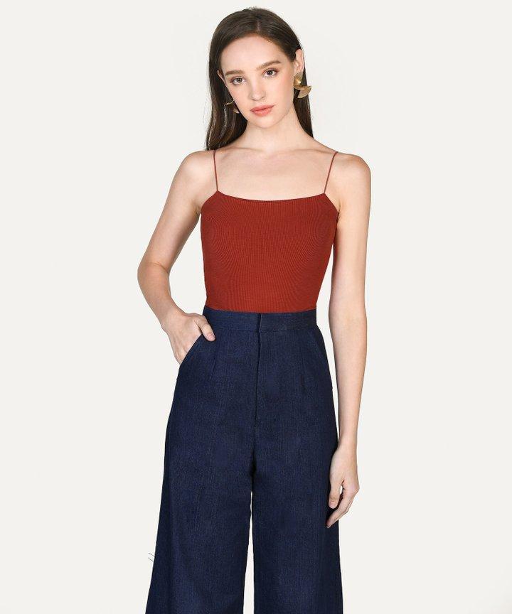 Jillian Knit Camisole - Scarlet
