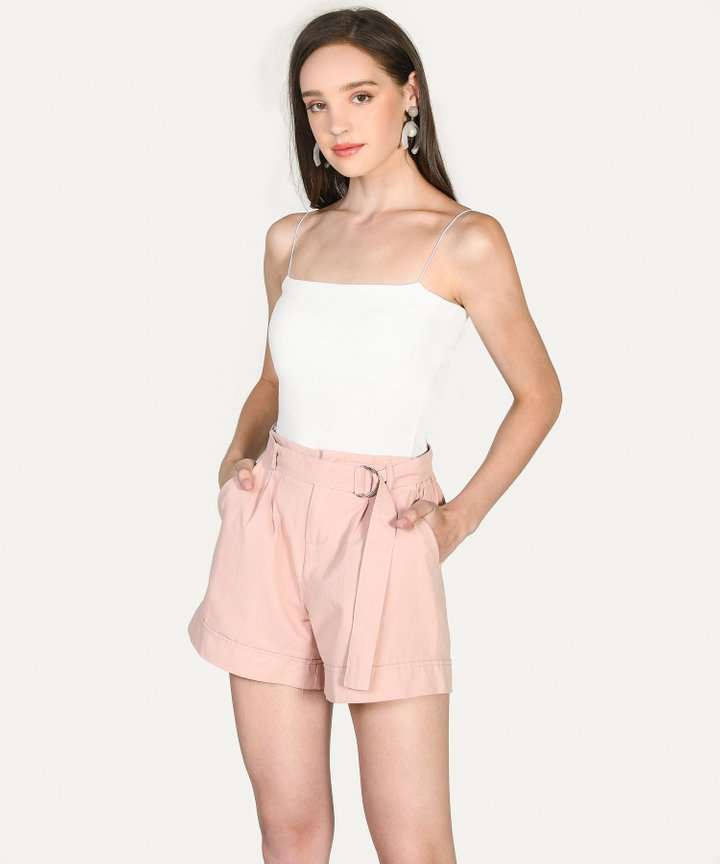 Fallon Paperbag Shorts - Blush Pink