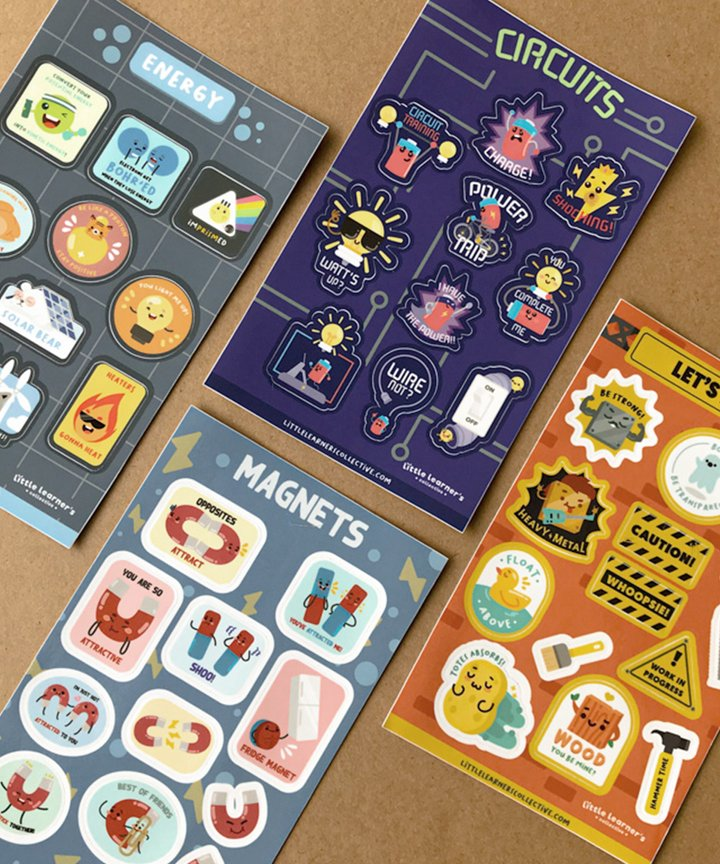 Physics Collection Stickers