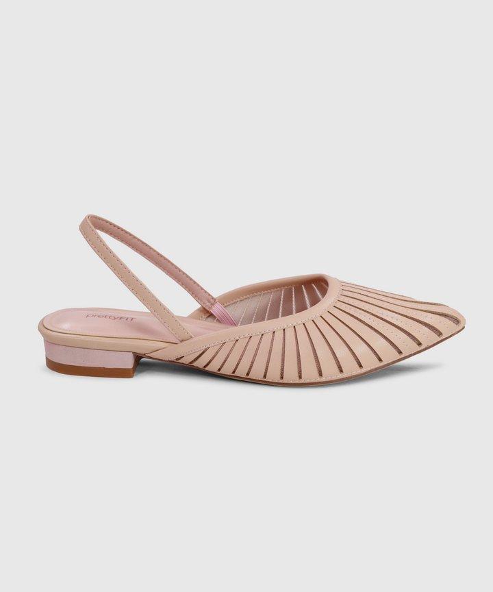 Rena Sling-back Flats - Pink