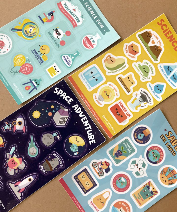 Science Fun Collection Stickers