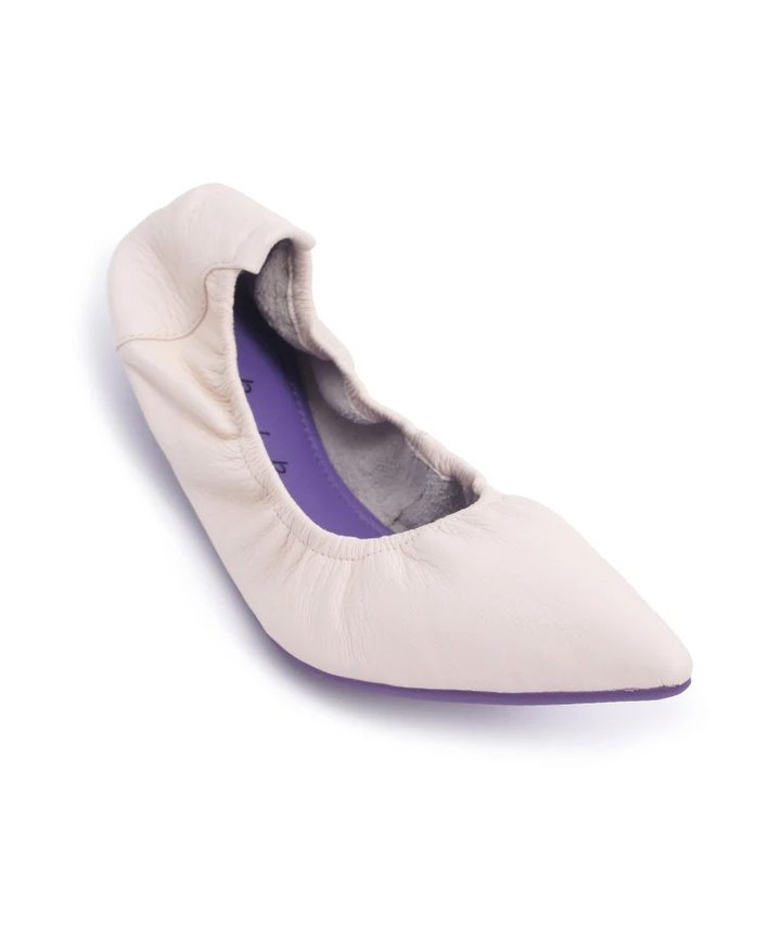 Soft Pointed Flats - White
