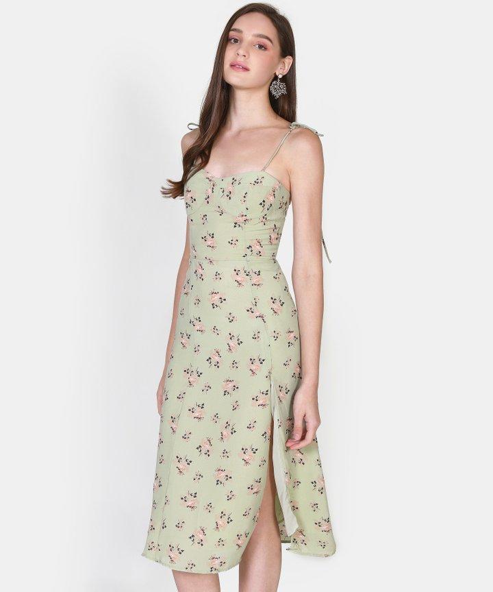 Adorn Floral Slit Midi (Backorder)