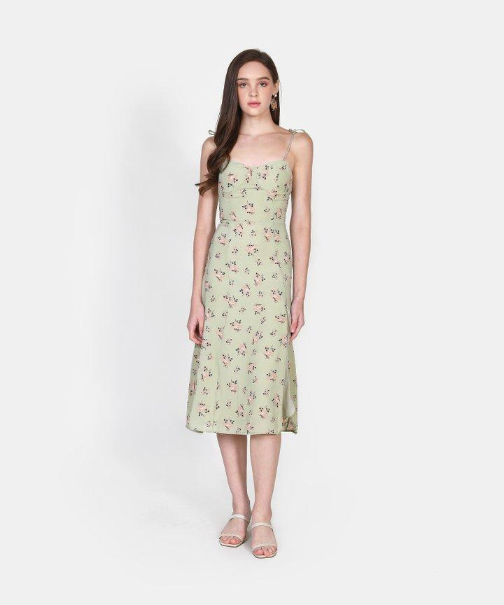 Adorn Floral Slit Midi Dress (Backorder)