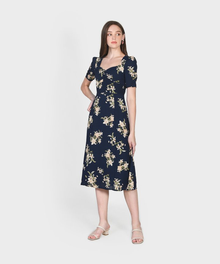 Aman Floral Midi Dress (Backorder)