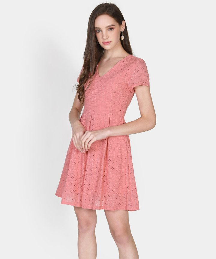 Carousel Eyelet Dress - Candy Pink