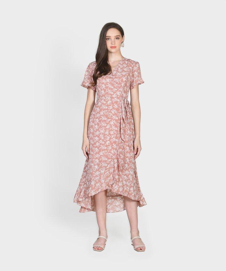 Charlotte Overlay Dress - Blush Pink