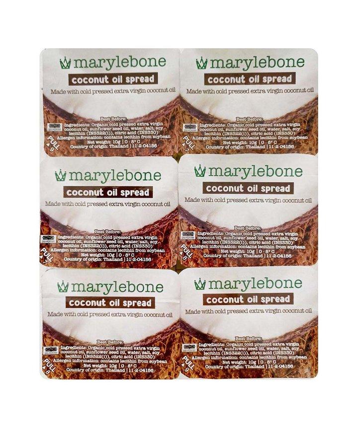 Marylebone Coconut Oil Spread 10g - 6 pack