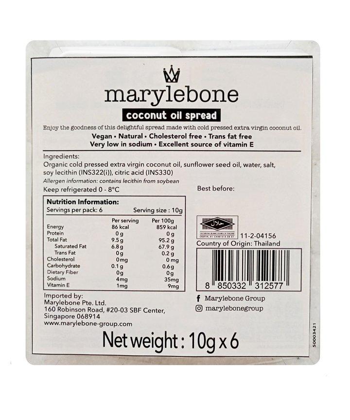 Marylebone Coconut Oil Spread 10g for 8days (24 packs)
