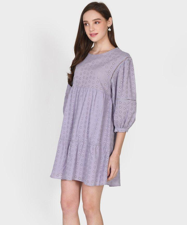 Janine Eyelet Babydoll Dress (Backorder)