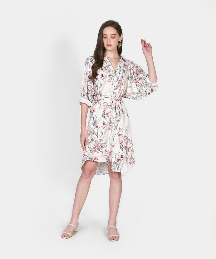 Ilona Oversized Floral Shirtdress