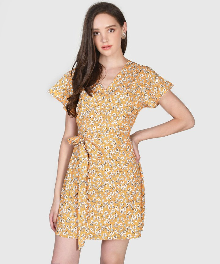 Malin Floral Wrap Dress