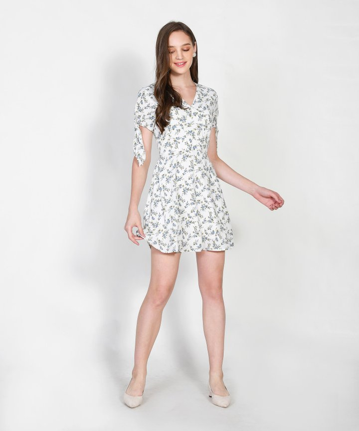 Maryn Floral Dress - White
