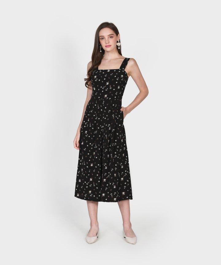 Minetta Floral Jumpsuit - Black