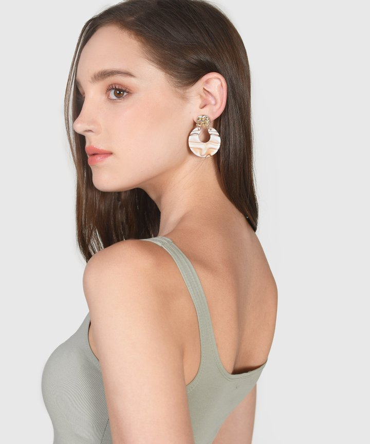 Moda Marble Earrings