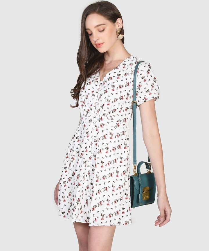 Primrose Floral Dress - White