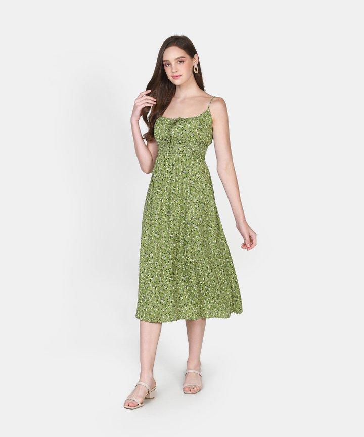 Sadelle Floral Midi Dress