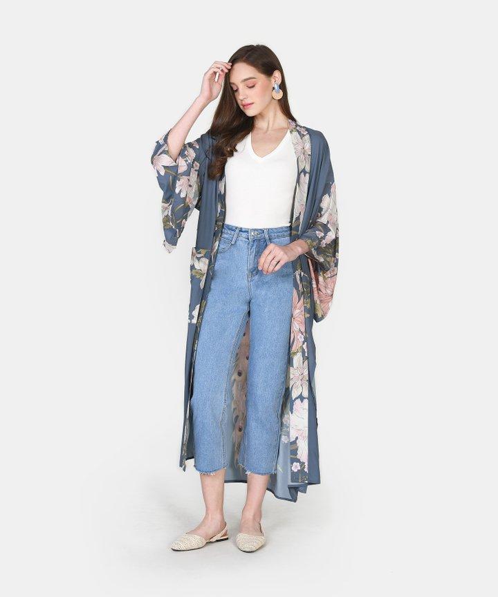 Sommar Longline Floral Robe