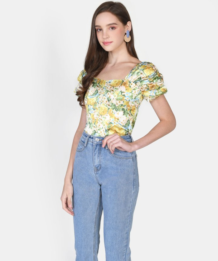Westwood Floral Satin Blouse