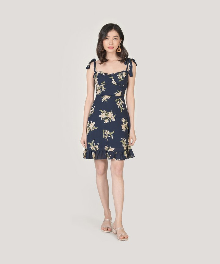 Aman Floral Ruffle Mini Dress (Restock)