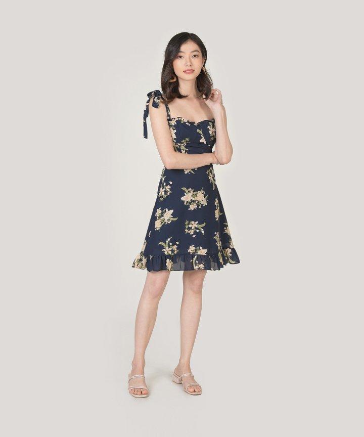 Aman Floral Ruffle Mini Dress (Restock)