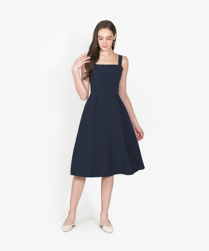 Axel Square Midi Dress - Midnight Blue