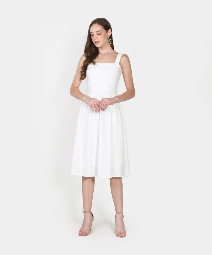 Axel Square Midi Dress - White