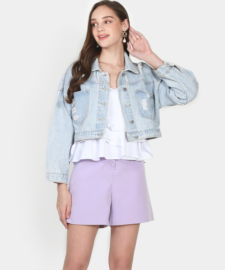 Bailey Cropped Denim Jacket - Size M (Instock)