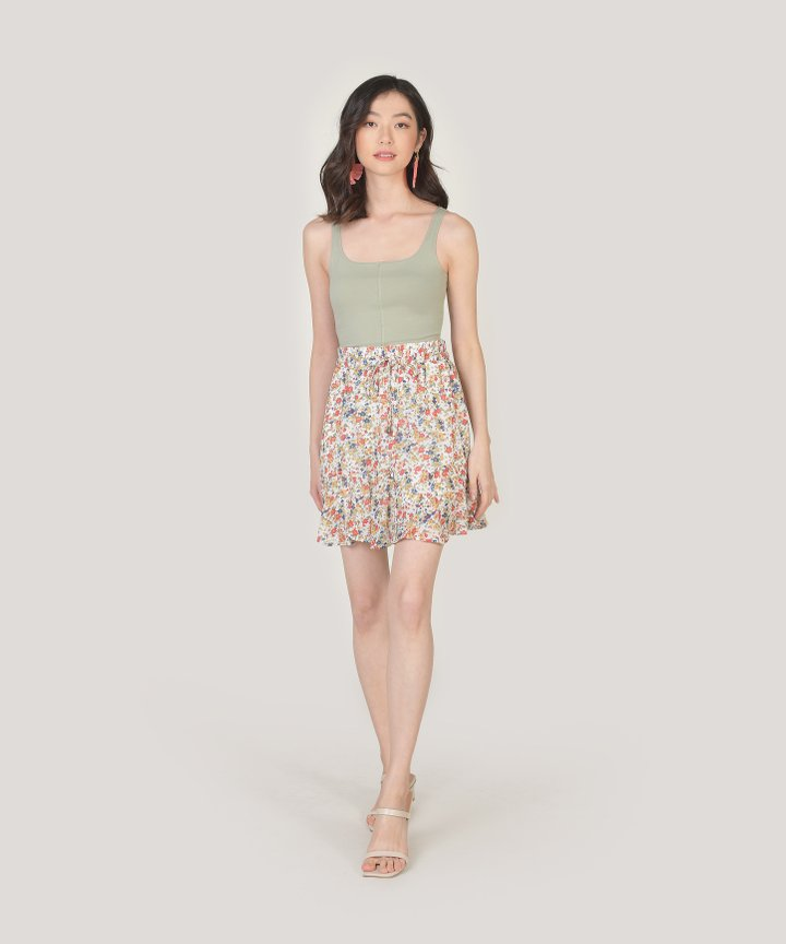 Bailey Floral Skorts - White
