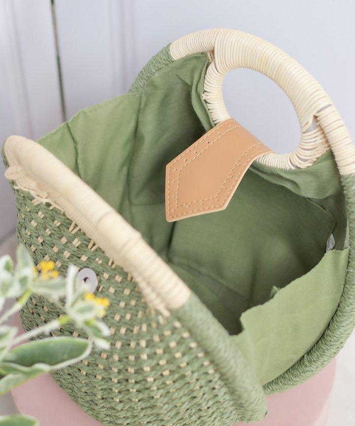 Breonna Woven Bag - Green