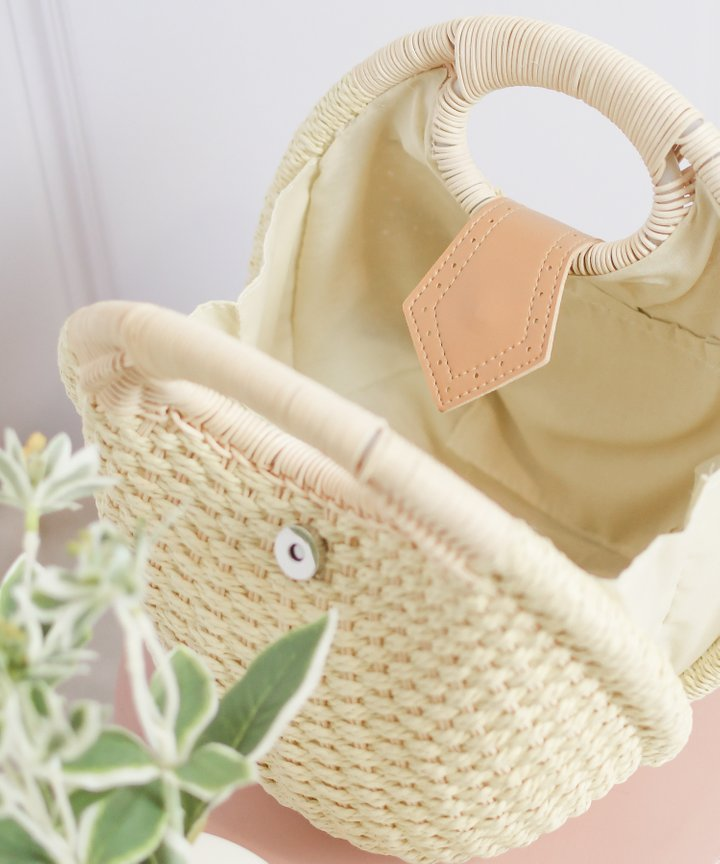 Breonna Woven Bag - Natural