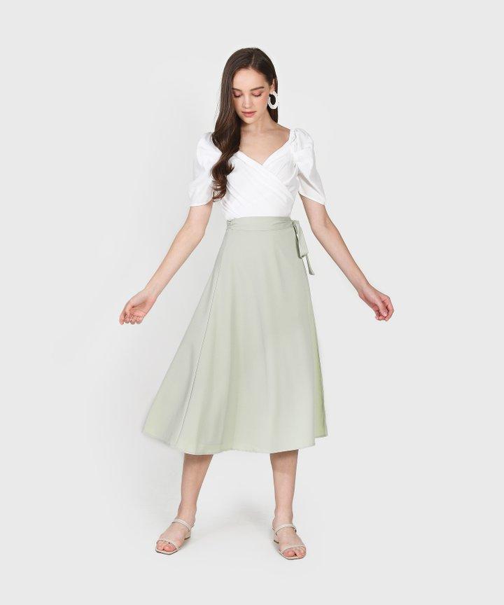 Canelé Wrap Blouse - White Size S (Backorder)