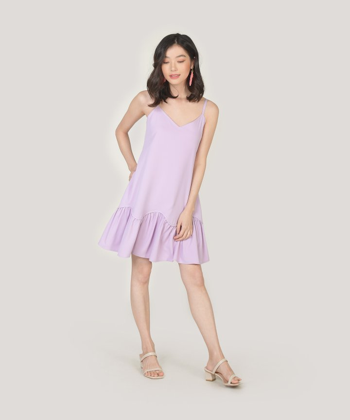 Elyse Drop Hem Dress - Lilac