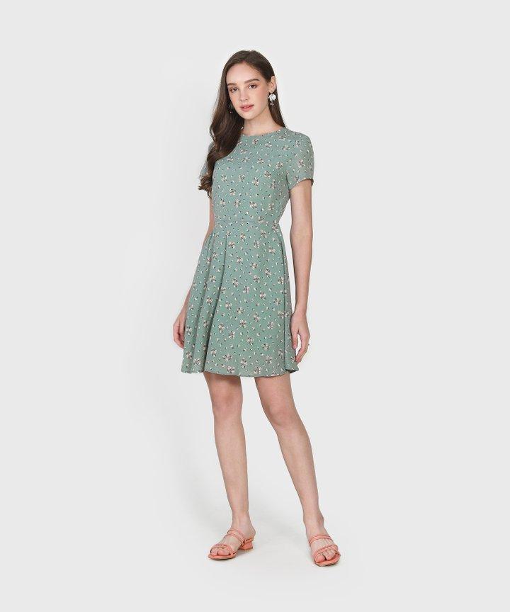 Haiden Floral Dress - Jade