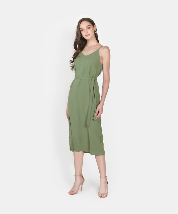 Lisou Slit Midi Dress